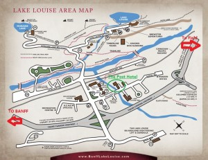 Lake Louise Village Map with Details